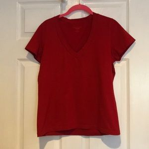 Medium Talbots Red/Burgundy T-Shirt